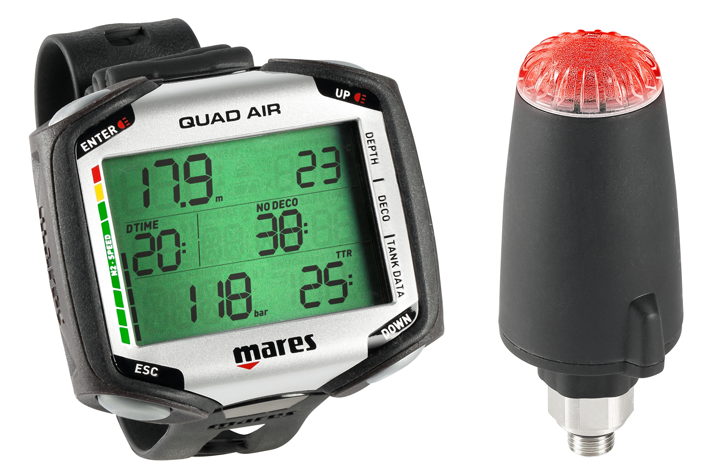 mares Quad Air mit Sender