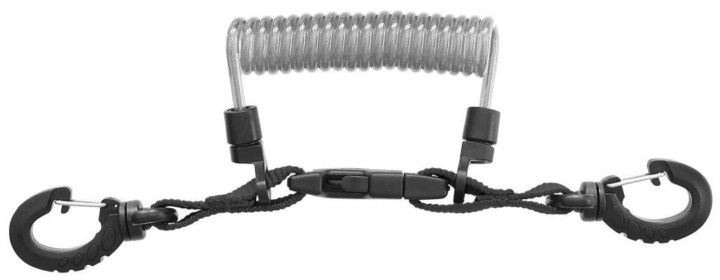 INOX-Spiralkabel mit Ring, mares